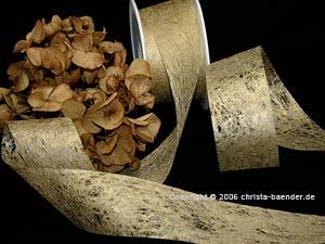 Vliesband Gold ohne Draht 40mm