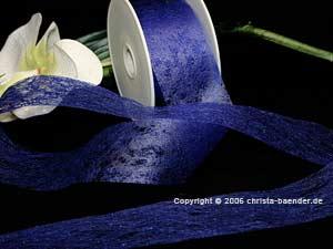 Vliesband Blau ohne Draht 40mm