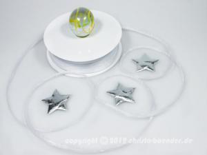 Bändchen Torbole Weiß mit Draht 5mm