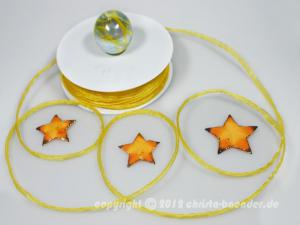 Bändchen Torbole Gelb mit Draht 5mm