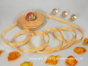 Streifenband Orange ohne Draht 10mm - Geschenkband günstig online kaufen!