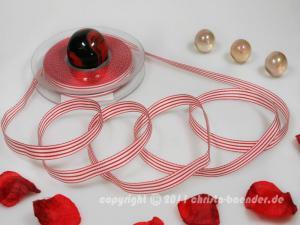 Streifenband Rot ohne Draht 10mm - Geschenkband günstig online kaufen!