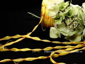 Zierkordel Gelb ohne Draht 4mm