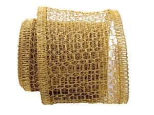 Gitterband Hexe gold 120mm mit Draht