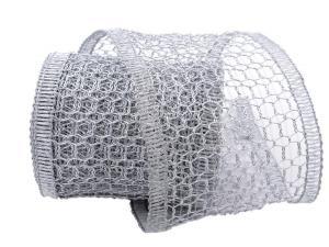 Gitterband Hexe silber 120mm mit Draht