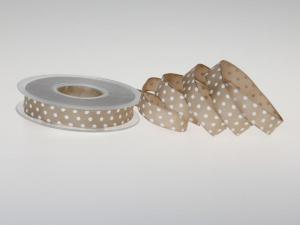 Motivband Punkteband Toffee mit Draht 15mm - Geschenkband günstig online kaufen!