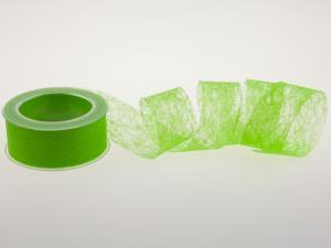 Vliesband Hellgrün ohne Draht 40mm
