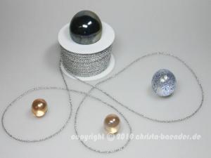 Kordel Silber ohne Draht 2mm