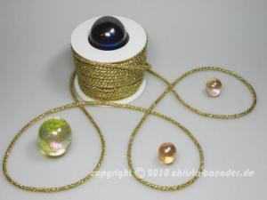 Kordel Gold ohne Draht 4mm