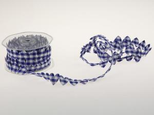 Karoband Karoherz blau ohne Draht
