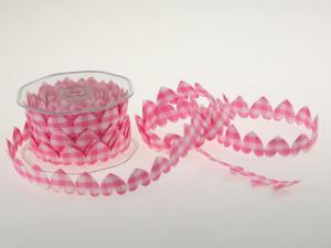 Karoband Karoherz rosa ohne Draht