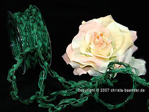 Bänderwelle Dunkelgrün mit Draht 20mm