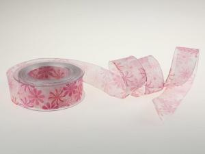 Blumenband Garden of Flower rosa mit Draht 40mm im Bänder Online-Shop günstig kaufen
