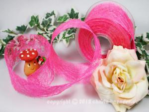 Tischband Sisal Pink ohne Draht 60mm