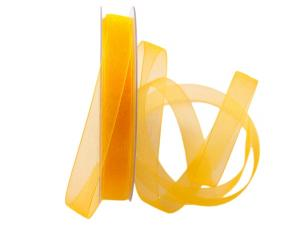 Organzaband Luminoso gelb 15mm ohne Draht - Schleifenband günstig online kaufen!