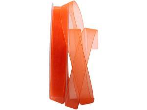 Organzaband Luminoso orange 15mm ohne Draht - Dekoband günstig online kaufen!