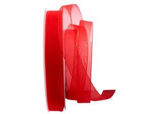 Organzaband Luminoso rot 15mm ohne Draht - Schleifenband günstig online kaufen!
