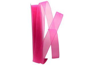 Organzaband Luminoso pink 15mm ohne Draht - Schleifenband günstig online kaufen!