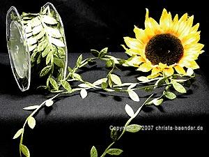 Motivband Blättergirlande Olive ohne Draht 26mm
