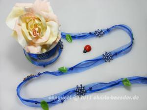 Blumengirlande Flower Field Blau ohne Draht ca. 20mm - im Bänder Großhandel günstig kaufen!