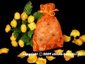 Butterfly-Organzasäckchen Orange 10 Stück 12,5cm x 17,5 cm