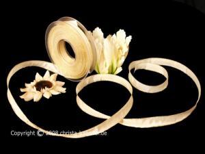 Uniband Goldkante Moskau Creme mit Draht 15mm