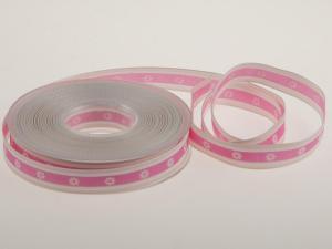 Motivband Blume Rosa mit Draht 15 mm - Geschenkband günstig online kaufen!