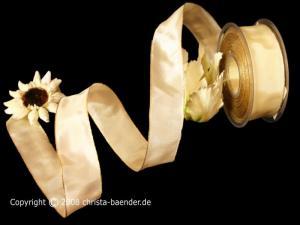 Uniband Goldkante Taipeh Creme mit Draht 40mm