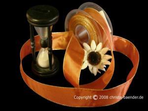Uniband Goldkante Taipeh Cognac mit Draht 40mm