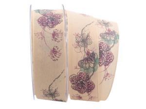 Blumenband Mainau creme 40mm mit Draht