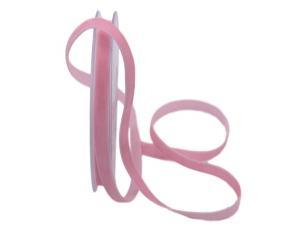 Samtbändchen 9mm rosa ohne Draht