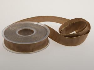 Weihnachts-Schleifenband Braun 25 mm mit Draht - Schleifenband günstig online kaufen!