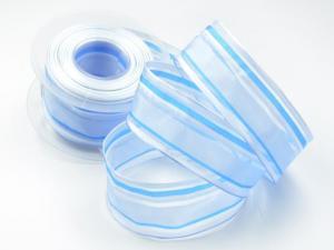 Streifenband Harmonie hellblau mit Draht 40mm - Geschenkband günstig online kaufen!