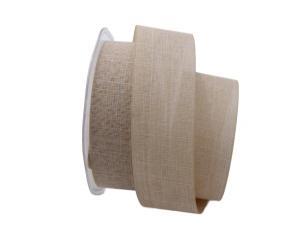 Uniband Leinenoptik natur 40mm ohne Draht - im Bänder Großhandel günstig kaufen!