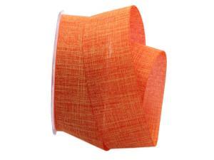 Uniband Leinenoptik orange 40mm ohne Draht