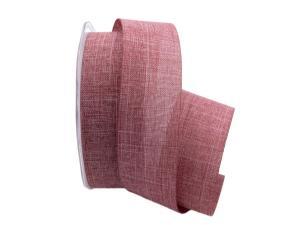 Uniband Leinenoptik altrosa / mauve 40mm ohne Draht
