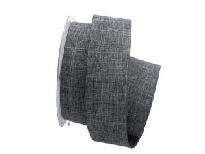 Uniband Leinenoptik grau / anthrazit 40mm ohne Draht