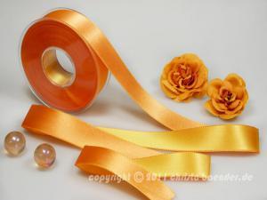Satinband Padenghe Lachs Gelb ohne Draht 25mm