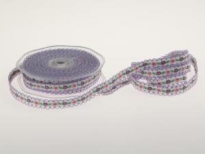 Blumenband Folklore Flieder ohne Draht 13 mm