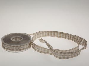 Vichykaro mit Herz Braun 25 mm mit Draht