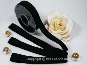 Filzband Filz Schwarz ohne Draht 25mm