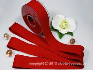 Filzband Filz Rot ohne Draht 40mm