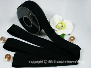 Filzband Filz Schwarz ohne Draht 40mm