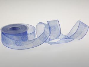 Motivband Pusteblume blau 40 mm mit Drahtkante - Dekoband günstig online kaufen!