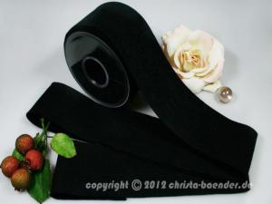 Filzband Filz Schwarz ohne Draht 70mm
