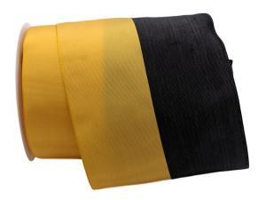 Nationalband Münchner Farben gelb / schwarz 130mm ohne Draht