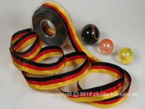 Uniband Nationalband Deutschland Schwarz ohne Draht 25mm