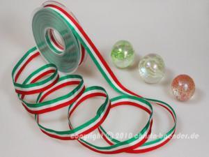 Uni Nationalband Italien Grün Weiß Rot ohne Draht 15mm