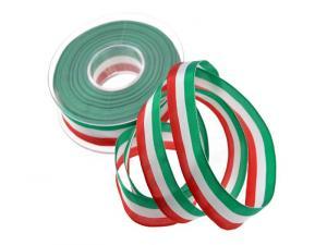 Uni Nationalband Italien Grün Weiß Rot ohne Draht 25mm