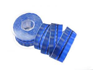 Karoband Summertime Blau  40 mm mit Draht